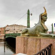 Египетский мост фотографии