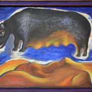 Выставка «Черные вихри на синем или зелено-голубом фоне» фотографии