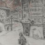 Выставка «По дороге к Таврической. Блокадная графика Елены Марттила» фотографии
