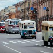 Парад ретро-транспорта в честь Дня основания Санкт-Петербурга 2018 фотографии