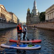 Прогулки на САП-борде в Санкт-Петербурге фотографии