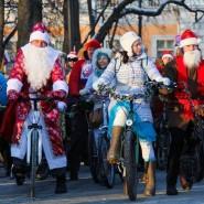 Велопарад Дедов Морозов и Снегурочек 2018 фотографии