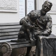 Памятник героям фильма «Собачье сердце» фотографии