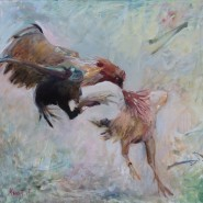 Выставка «Петушиный бой» фотографии