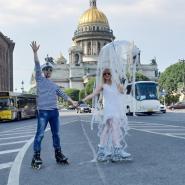 Роллер-пробег по центру Санкт-Петербурга фотографии
