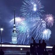 Праздничный салют на 9 мая в Санкт-Петербурге 2020 фотографии