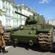 Выставка военной техники на Дворцовой площади фотографии