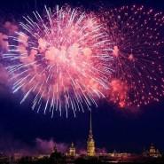 Праздничный салют в День ВМФ в Санкт-Петербурге 2019 фотографии