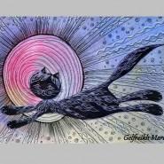 Выставка «Теплые коты» в библиотеке Н. В. Гоголя фотографии