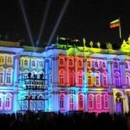 Салют в Новогоднюю ночь 2016 на Дворцовой площади фотографии