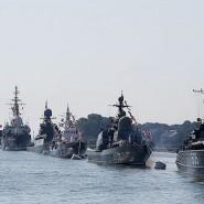 Военный парад кораблей в день ВМФ в Санкт-Петербурге 2016 фотографии