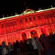 Световое шоу на Дворцовой площади к 100-летию Октябрьской революции фотографии