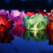 Фестиваль водных фонариков в Юсуповском саду 2018 фотографии