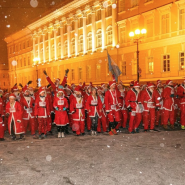 Забег дедов Морозов в Санкт-Петербурге 2018 фотографии