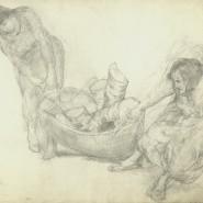 Выставка «Типы и сцены: Петроград в рисунках А. И. Вахрамеева» фотографии