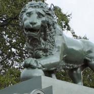 Львы на Дворцовой пристани фотографии