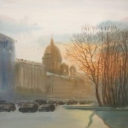 Выставка «Акварельный Петербург» фотографии