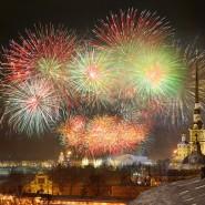 Праздничный салют в «День Защитника Отечества» 2016 фотографии