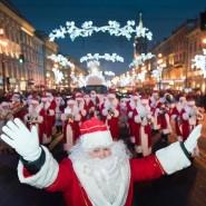 Флешмоб Дедов Морозов на Дворцовой площади 2015 фотографии