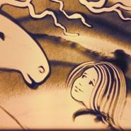 Шоу для детей «Зимние песочные сказки» фотографии