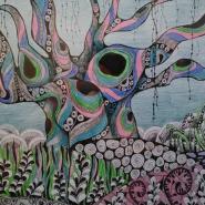 Выставка графики Ольги Новоселовой «Бесконечные сны» фотографии