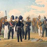 Развод караула Гатчинского Лейб-Гвардии Егерского полка фотографии