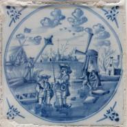 Выставка «Приключения голландской плитки XVIII века из собрания Эрмитажа» фотографии