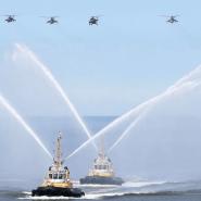 Первая сводная тренировка боевых кораблей ВМФ фотографии