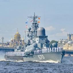 Военно-морской парад в Санкт-Петербурге 9 мая 2020