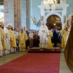 Патриаршее богослужение в Петропавловском соборе 2017