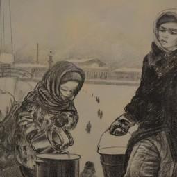 Выставка «По дороге к Таврической. Блокадная графика Елены Марттила»