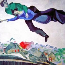 Шоколадная копия «Прогулки» Марка Шагала в Летнем саду