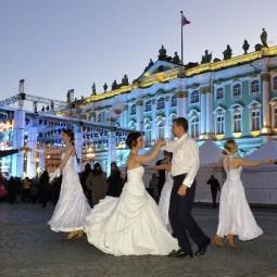 Бальные танцы на стрелке Васильевского острова 2017