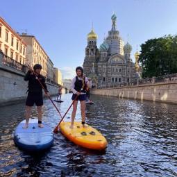 Прогулки на САП-борде в Санкт-Петербурге