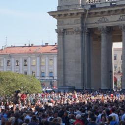 Акция «Народный хор» в честь 300-летия Невского проспекта