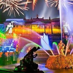 Праздник закрытия фонтанов в Петергофе 2016