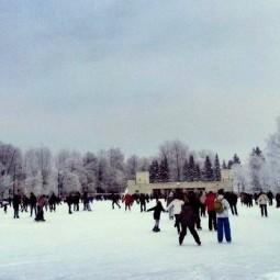 Открытие катка в Московском парке Победы 2018
