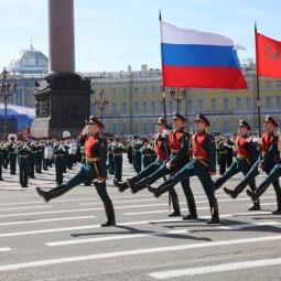 Тренировки парада к 75-летию Победы на Дворцовой площади
