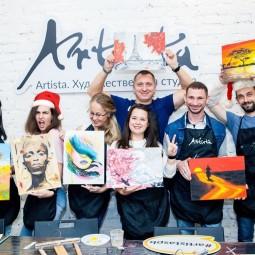 Новогодние мастер-классы «Картина за 3 часа» в Санкт-Петербурге 2020