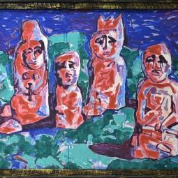 Выставка «Черные вихри на синем или зелено-голубом фоне»