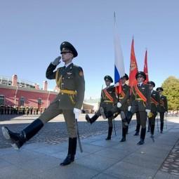 Церемония развода почетного караула в Петропавловской крепости 2021