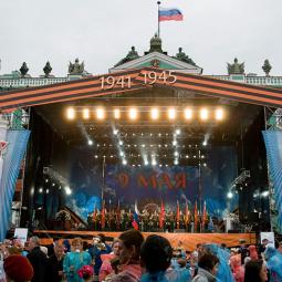 Концерт ко Дню Победы на Дворцовой площади 2017