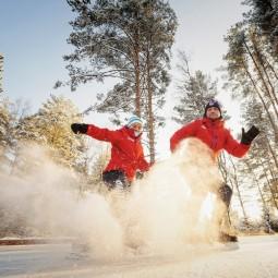 Открытие лесного катка на курорте «Охта Парк» 2020