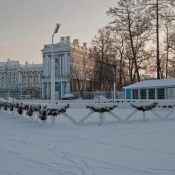 Каток на Треугольной площади в Царском селе 2018/19