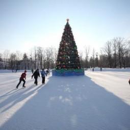 Открытие большого бесплатного катка в парке С. Кирова 2021