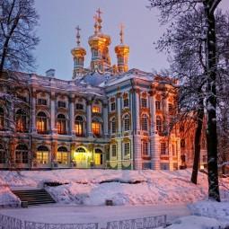 Зимний вечер света в Царском селе 2017