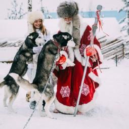 Путешествие к хаски и карельскому Деду Морозу 2021