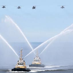 Первая сводная тренировка боевых кораблей ВМФ