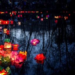 Фестиваль водных фонариков в Юсуповском саду 2018