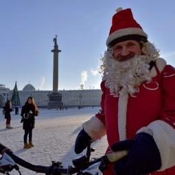 Велопарад Дедов Морозов и Снегурочек 2018